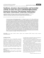 Synthesis  structure characterization and larvicidal activity of some tris-(para-substitutedphenyl)tins.