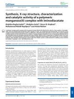 Synthesis  X-ray structure  characterization and catalytic activity of a polymeric manganese(II) complex with iminodiacetate.