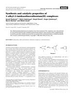 Synthesis and catalytic properties of 1-alkyl-2-imidazolineruthenium(II) complexes.