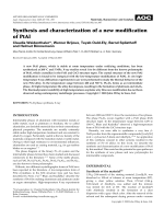 Synthesis and characterization of a new modification of PtAl.