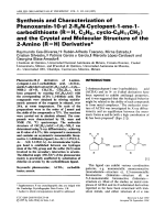 Synthesis and characterization of phenoxarsin-10-yl 2-R2N-cyclopent-1-ene-1-carbodithioate (R = H  C2H5  cyclo-C6H11CH2) and the crystal and molecular structure of the 2-amino (R = H) derivative.
