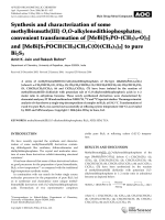 Synthesis and characterization of some methylbismuth (III) O O-alkylenedithiophosphates  convenient transformation of  and  to pure Bi2S3.