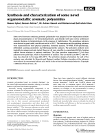 Synthesis and characterization of some novel organometallic aromatic polyamides.