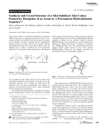 Synthesis and Crystal Structure of a Silyl-Stabilized Allyl Cation Formed by Disruption of an Arene by a ProtonationЦHydrosilylation Sequence.
