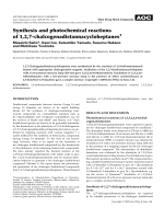 Synthesis and photochemical reactions of 1 2 7-chalcogenadistannacycloheptanes.