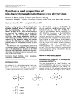 Synthesis and properties of bis(dialkylphosphino)ethane iron dihydrides.