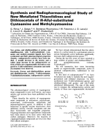 Synthesis and radiopharmacological study of new metallated thiazolidines and dithioacetals of N-allyl-substituted cysteamine and methylcysteamine.
