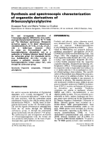 Synthesis and spectroscopic characterization of organotin derivatives of N-benzoylglycylglycine.