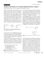 Synthesis and Structure of a Cationic Platinum Borylene Complex.