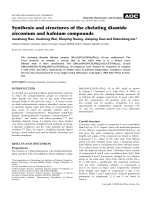 Synthesis and structures of the chelating diamido zirconium and hafnium compounds.