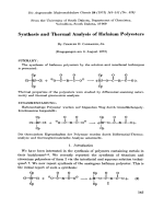 Synthesis and thermal analysis of hafnium polyesters.