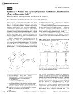 Synthesis of Amino- and Hydroxybiphenyls by Radical Chain Reaction of Arenediazonium Salts.