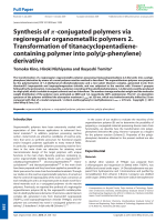 Synthesis of -conjugated polymers via regioregular organometallic polymers 2. Transformation of titanacyclopentadiene- containing polymer into poly(p-phenylene) derivative