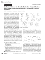 Synthesis of Heterocycles through a Ruthenium-Catalyzed Tandem Ring-Closing MetathesisIsomerizationN-Acyliminium Cyclization Sequence.