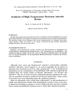 Synthesis of high temperature resistant anisolic resins.