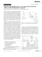 Synthesis of Isoquinolines from -Aryl Vinyl Azides and Internal Alkynes by RhЦCu Bimetallic Cooperation.