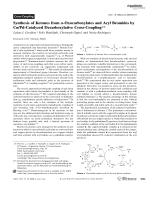 Synthesis of Ketones from -Oxocarboxylates and Aryl Bromides by CuPd-Catalyzed Decarboxylative Cross-Coupling.