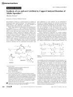 Synthesis of syn and anti 1 4-Diols by Copper-Catalyzed Boration of Allylic Epoxides.