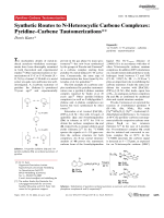 Synthetic Routes to N-Heterocyclic Carbene Complexes  PyridineЦCarbene Tautomerizations.