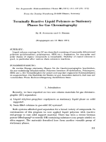 Terminally reactive liquid polymers as stationary phases for gas chromatography.