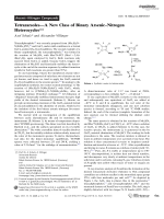 TetrazarsolesЧA New Class of Binary ArsenicЦNitrogen Heterocycles.
