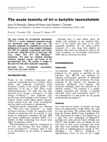 The acute toxicity of tri-n-butyltin taurocholate.