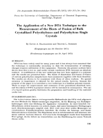 The application of a new DTA technique to the measurement of the heats of fusion of bulk crystallized polyethylenes and polyethylene single crystals.