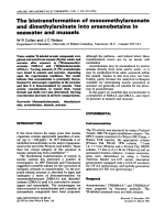 The biotransformation of monomethylarsonate and dimethylarsinate into arsenobetaine in seawater and mussels.
