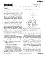 The Complete Characterization of a Reduced Biomimetic [2Fe-2S] Cluster.