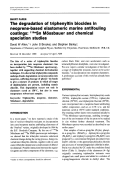 The degradation of triphenyltin biocides in neoprene-based elastomeric marine antifouling coatings  119mSn Mssbauer and chemical speciation studies.