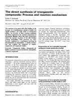 The direct synthesis of triorganotin compounds  Process and reaction mechanism.