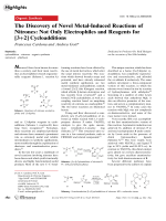 The Discovery of Novel Metal-Induced Reactions of Nitrones  Not Only Electrophiles and Reagents for [3+2] Cycloadditions.