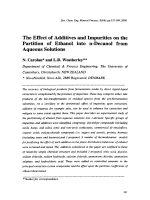 The Effect of Additives and Impurities on the Partition of Ethanol into n-Decanol from Aqueous Solutions.
