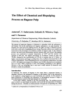 The Effect of Chemical and Biopulping Process on Bagasse Pulp.