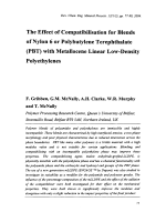 The Effect of Compatibilisation for Blends of Nylon 6 or Polybutylene Terephthalate (PBT) with Metallocene Linear Low-Density Polyethylenes.