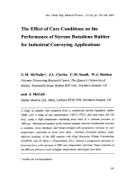 The Effect of Cure Conditions on the Performance of Styrene Butadiene Rubber for Industrial Conveying Applications.