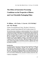 The Effect of Extrusion Processing Conditions on the Properties of Blown and Cast Polyolefin Packaging Films.
