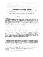 The effect of hydrazine hydrate on the thermal properties of polyvinyl alcohol.