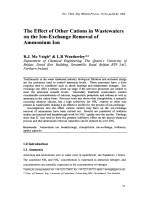 The Effect of Other Cations in Wastewaters on the Ion-Exchange Removal of Ammonium Ion.