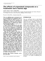 The effects of organolead compounds on a freshwater and a marine alga.