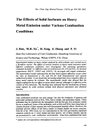 The Effects of Solid Sorbents on Heavy Metal Emission under Various Combustion.