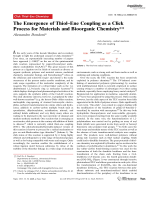 The Emergence of ThiolЦEne Coupling as a Click Process for Materials and Bioorganic Chemistry.