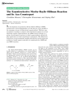 The Enantioselective MoritaЦBaylisЦHillman Reaction and Its Aza Counterpart.