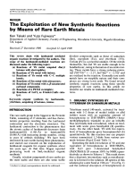 The exploitation of new synthetic reactions by means of rare earth metals.