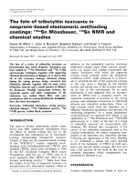 The fate of tributyltin toxicants in neoprene-based elastomeric antifouling coatings  119mSn Mssbauer  119Sn NMR and chemical studies.