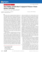 The Folding of Individual Conjugated Polymer Chains during Annealing.