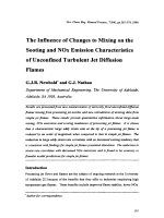 The Influence of Changes to Mixing on the Sooting and NOx Emission Characteristics of Unconfined Turbulent Jet Diffusion Flames.