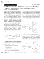 The Influence of Electron-Withdrawing Groups on the Chemistry of Phosphorus  Tautomerization of Bis(s-triazinyl)phosphanes.