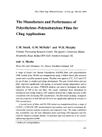 The Manufacture and Performance of Polyethylene-Polyisobutylene Films for Cling Applications.