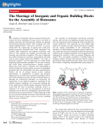 The Marriage of Inorganic and Organic Building Blocks for the Assembly of Rotaxanes.